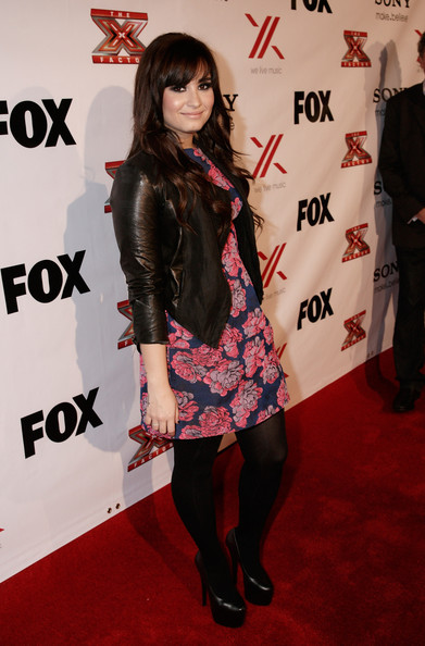 demi lovato pretty floral dress hollywoods most