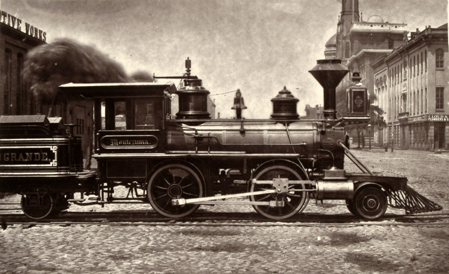Montezuma, first locomotive between Denver & Rio Grande