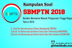Download Soal SBMPTN 2018 Naskah Asli Lengkap