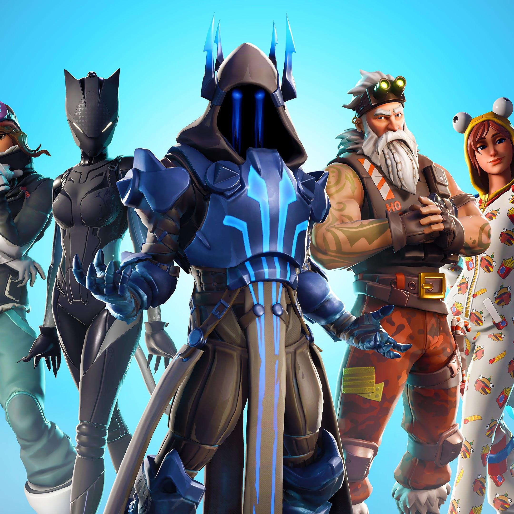 Fortnite Battle Royale, Season 7, Outfits, 4K, 3840x2160