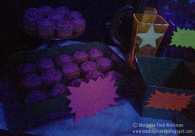 Glow in the New Year 2016 pink neon cupcakes