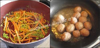 Polpettine speziate all'arancia ricetta di carne in salsa di agrumi