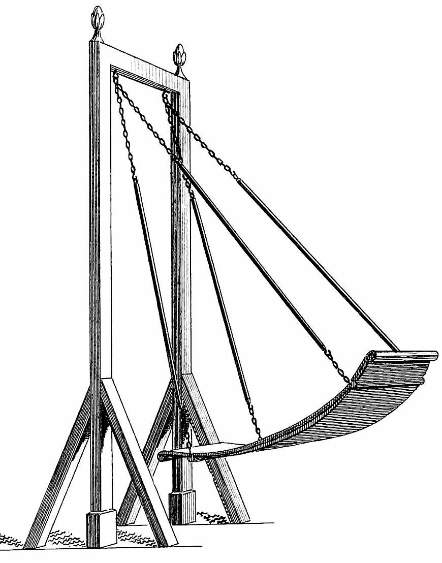an 1837 reclining swing, an illustration