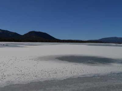 spiritual expansion, frozen lake,