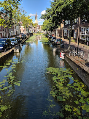 Canal in Delft.