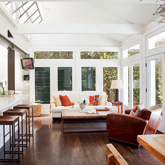 Sunroom Window Ideas: Sunroom, Screened And Covered Porch Decorating And Design