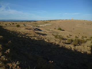 Vista general del yacimiento de Uxama