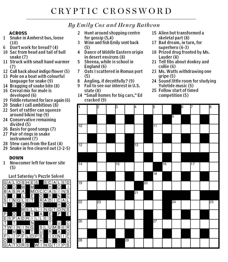 National Post Cryptic Crossword Forum July 2013