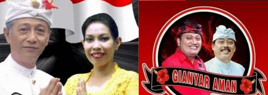 Dua pasang calon Bupati dan wakil Bupati Kabupaten Gianyar 2018