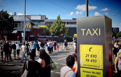 Taxistand McDonalds Hanauer Amok