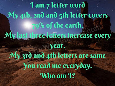 English Word Mind Riddle