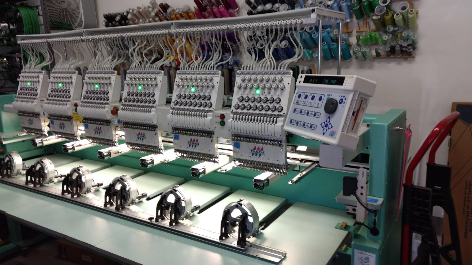 Reconditioned Embroidery Equipment 2004 Tajima Tfhx Llc1506
