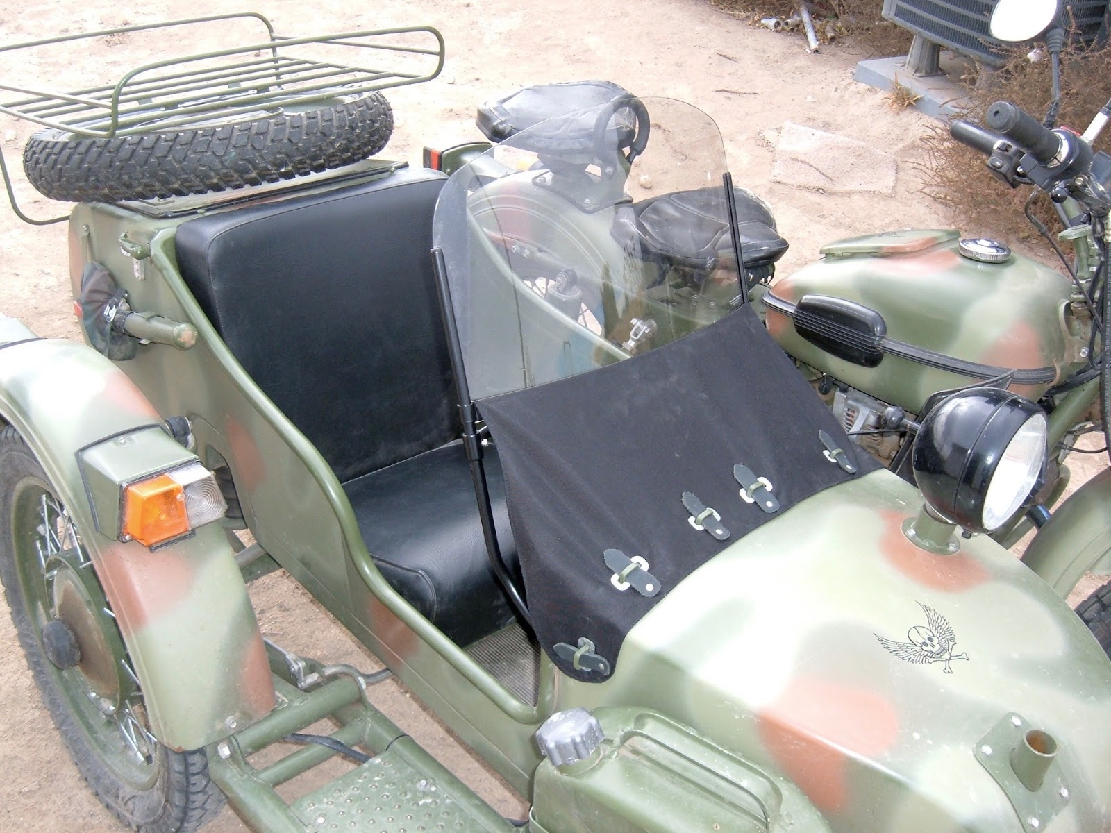 Unfortunately, if you order a Ural Sidecar Windshield (I got mine from Ural  NE), what you get is a box of parts. There are no instructions or anything  ...