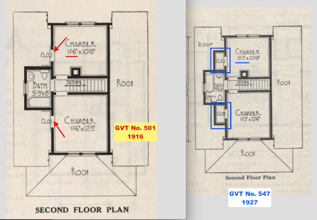 2nd floor comparison between GVT No. 501 and No. 547