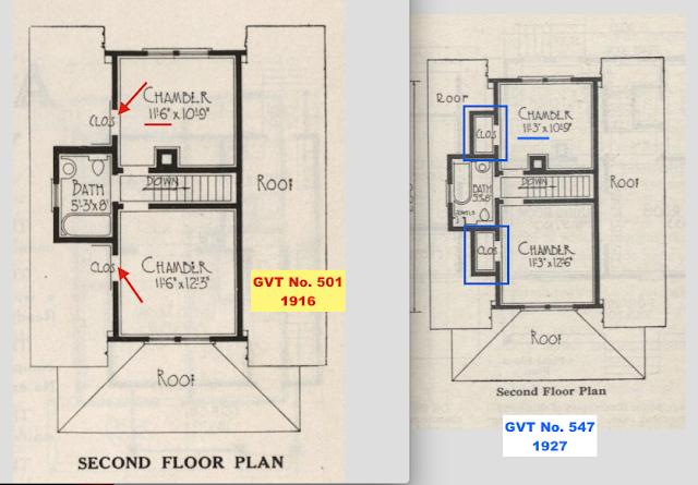 2nd floor comparison between GVT No. 501 and No. 547