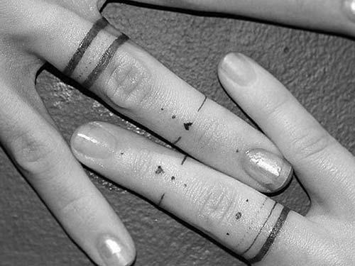 wedding ring couple tattoo yüzük parmağı sevgili dövmesi