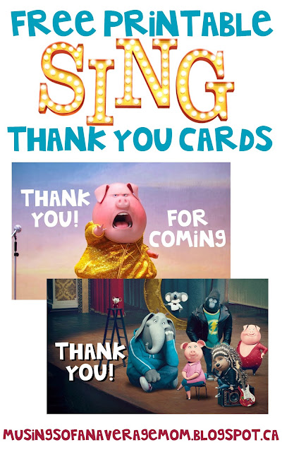 Sing Movie Thank You Cards