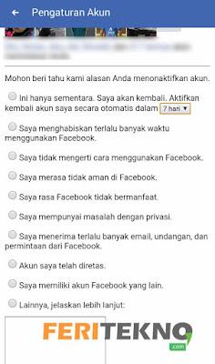cara menonaktifkan akun facebook 6