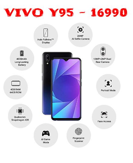 Vivo का नया Smart Phone Vivo Y95 - 4GB RAM सिर्फ ₹16990 सिर्फ Amazon एक्सक्लूसिव