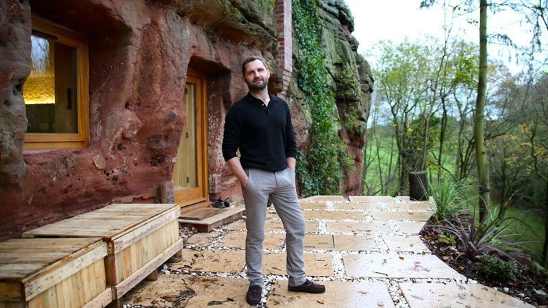 This is Angelo Mastropietro, the man who turned The Rockhouse from an ancient cave to a luxury retreat. - He Turned A 700 Year-Old Cave Into A Dream Home… Wait Till You See The Kitchen.
