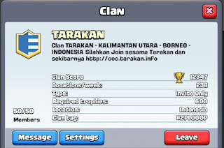 Clan TARAKAN Di Clash Royale Sudah Full