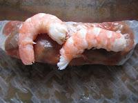 nes cuisinées à la Provençale de Cassegrain et aux crevettes, garnissage, roulage, trnd