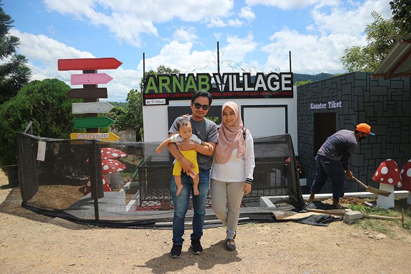 arnab village kampung kibas