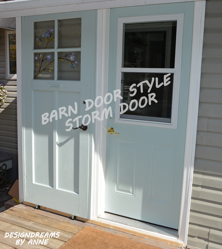 Barn Door Style Storm Door. Another Project To Deal With An Awkward Area Of  My Home At The Back Door.