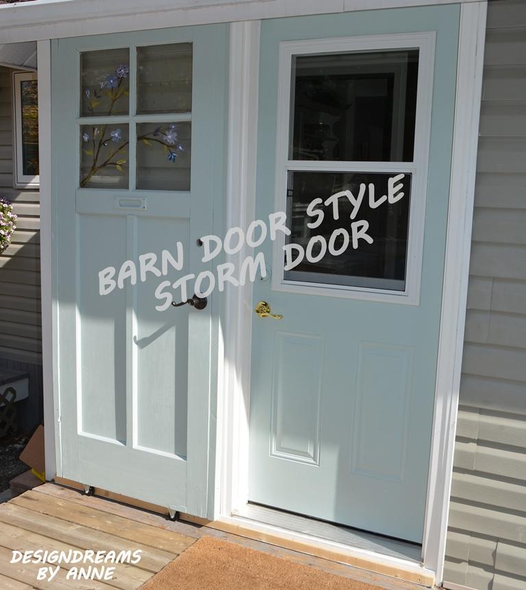 DesignDreams by Anne: Barn Door Style Storm Door