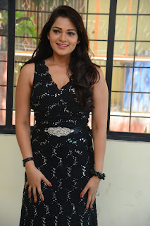 Actress Ashwini Stills in Black Dress at DJ Lemon Holi Poster Launch  0001.jpg