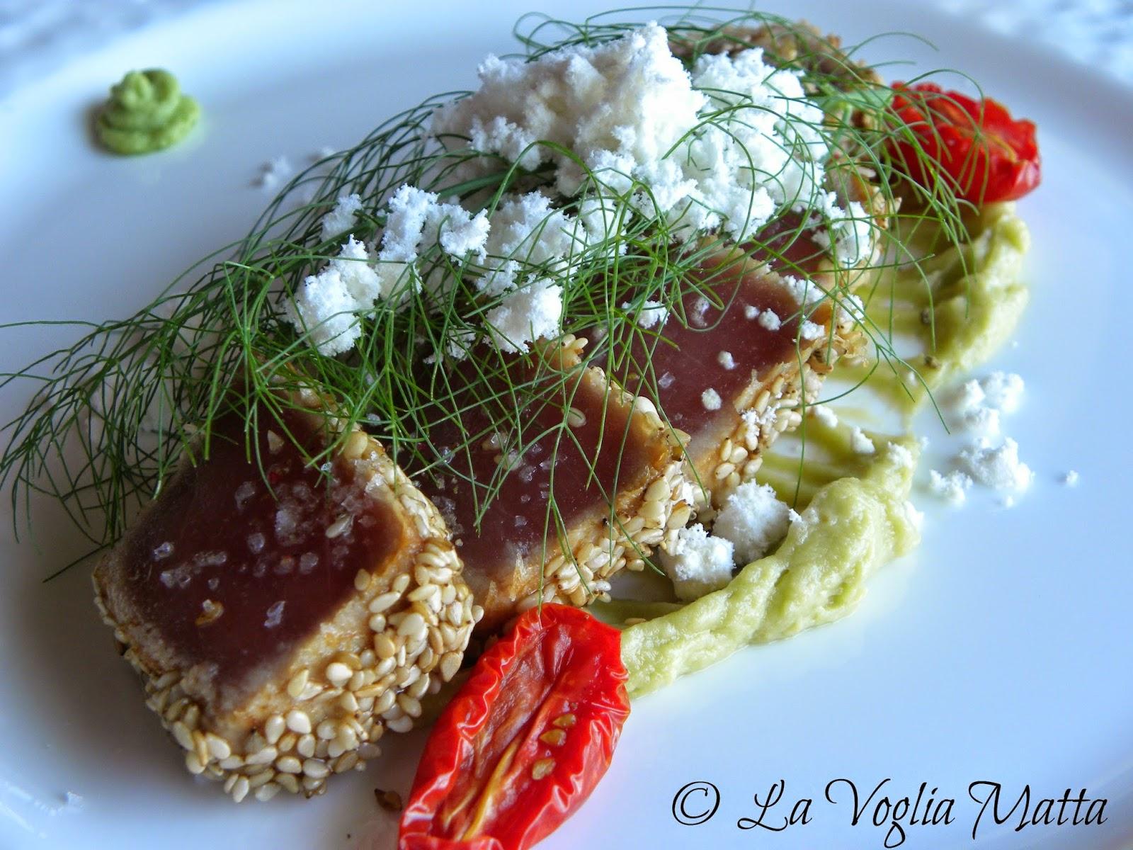 Hiša Torkla tonno marinato con avocado