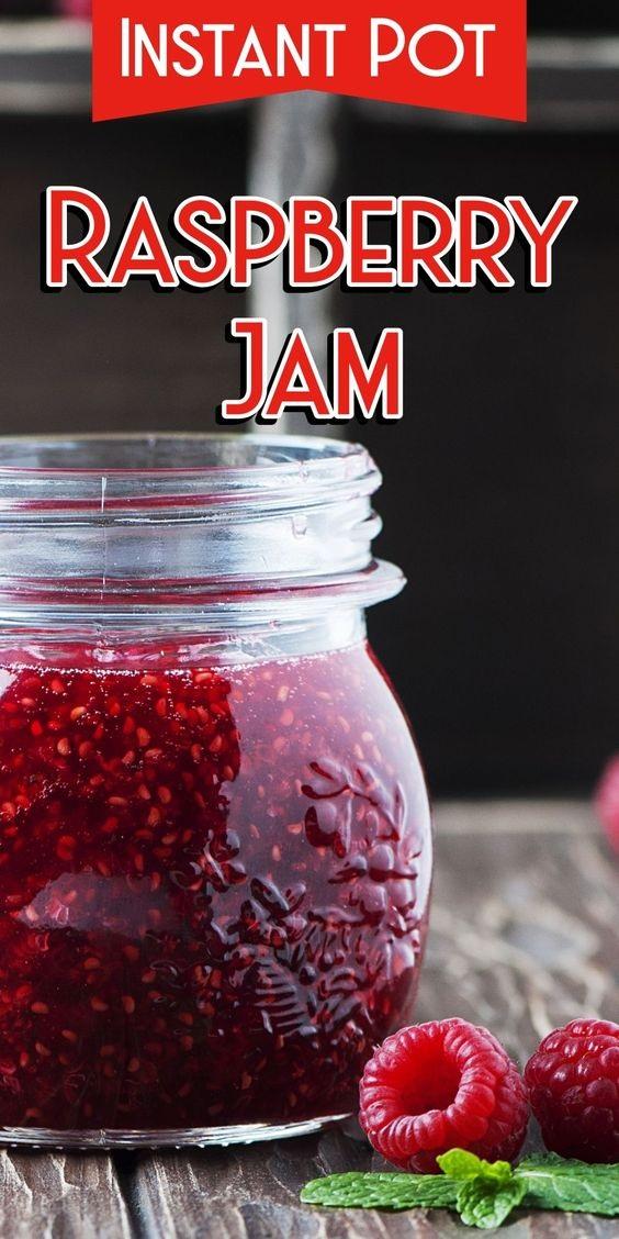 Pressure Cooker Raspberry Jam