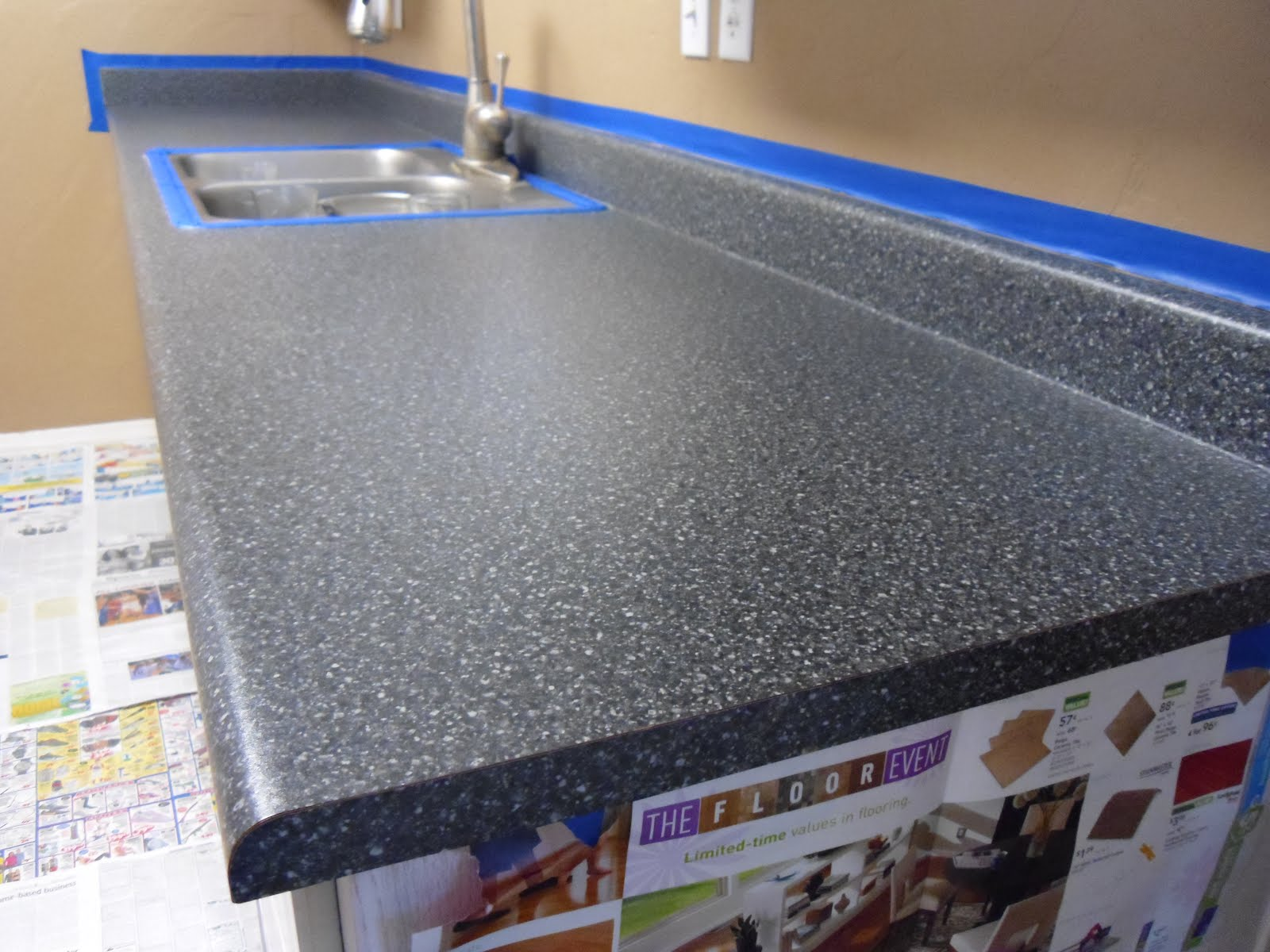 Home Depot Kitchen Countertops Laminate Counter Stools For Rustoleum Countertop Paint Price Improvement