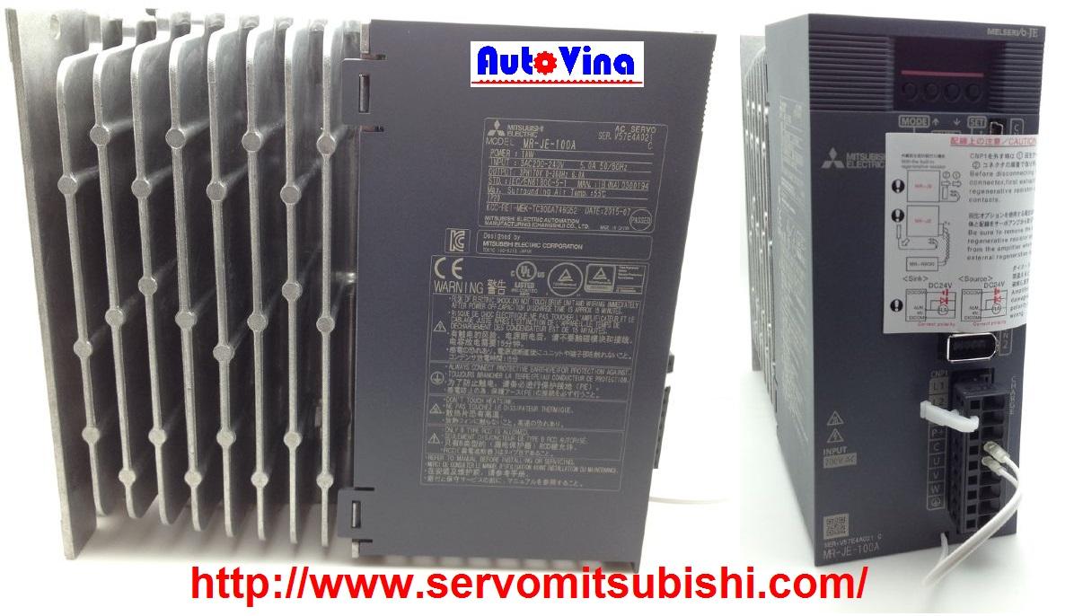 Nhà phân phối, tổng đại lý bán bộ Drive AC Servo Amplifier Mitsubishi MR-JE-100A 1000W