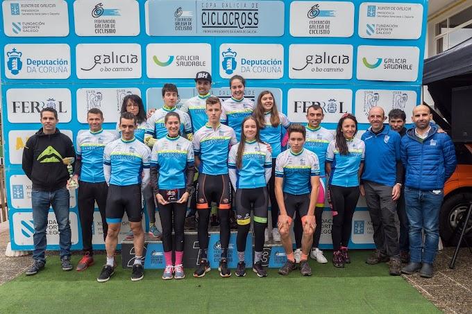 González (Kiwi Atlántico) y Trabazo (Marin) se van de ferrolterra más líderes de la Copa Galicia de Ciclocross