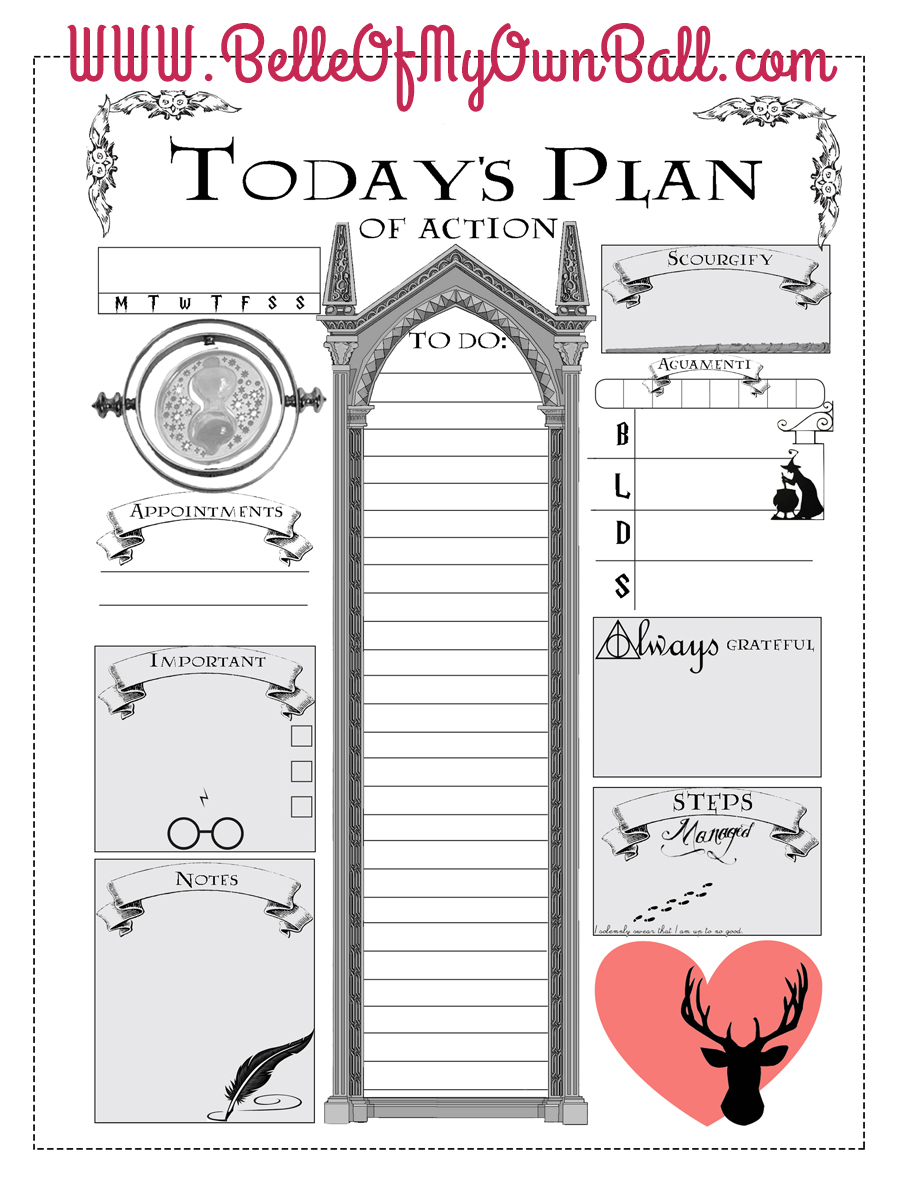 Calendar Typography Jobs : Belle of my own ball happy planner freebie harry potter