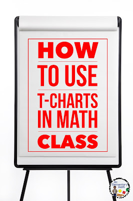 Read about how to use T-charts in math class. This is a great strategy for compare and contrast, main idea and detail and note taking.