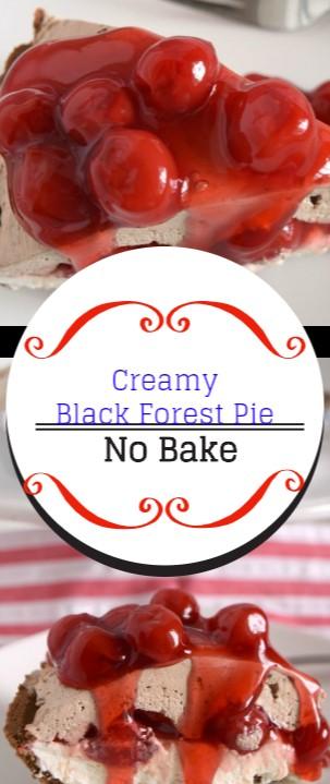 Creamy Black Forest Pie #christmas #dessert
