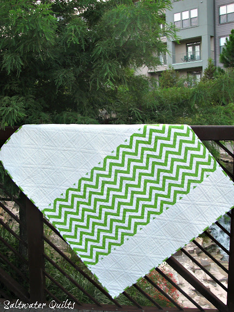 Rainbow Steps and Stairs Quilt Back | Half Square Triangles | © Saltwater Quilts 2012