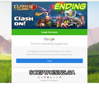 Demo 3 Script Phising COC Sendmail Tampilan Google