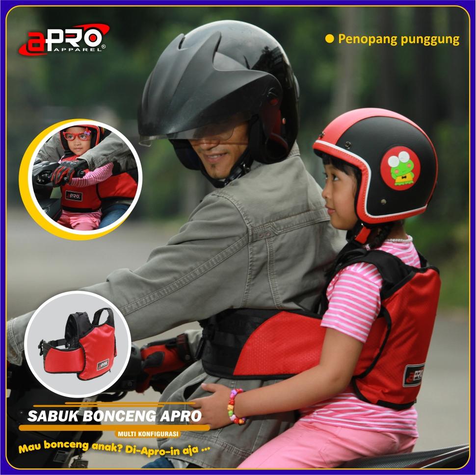 Sabuk Bonceng Anak Apro Multi Konfigurasi Motor Safety Belt Untuk Tali Bahu Dengan Gesper Pengunci Di Bagian Dada Pengendara Berfungsi Membantu Agar Lebih Stabil Saat Digunakan Sepasang Dapat