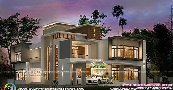 Luxury ultra modern home 6000 sq-ft - Kerala home design ...