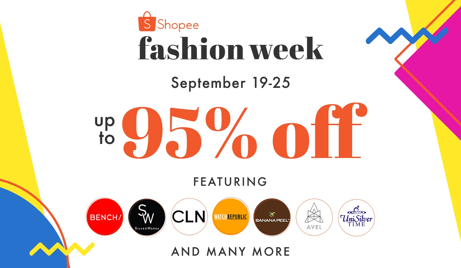 a0713e3b6b Shopee Fashion Week offers Up To 95% Off The Hottest Fashion Items ...
