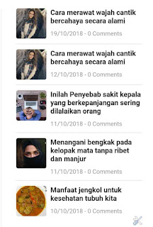 Cara membuat recent post widget with thumbnail