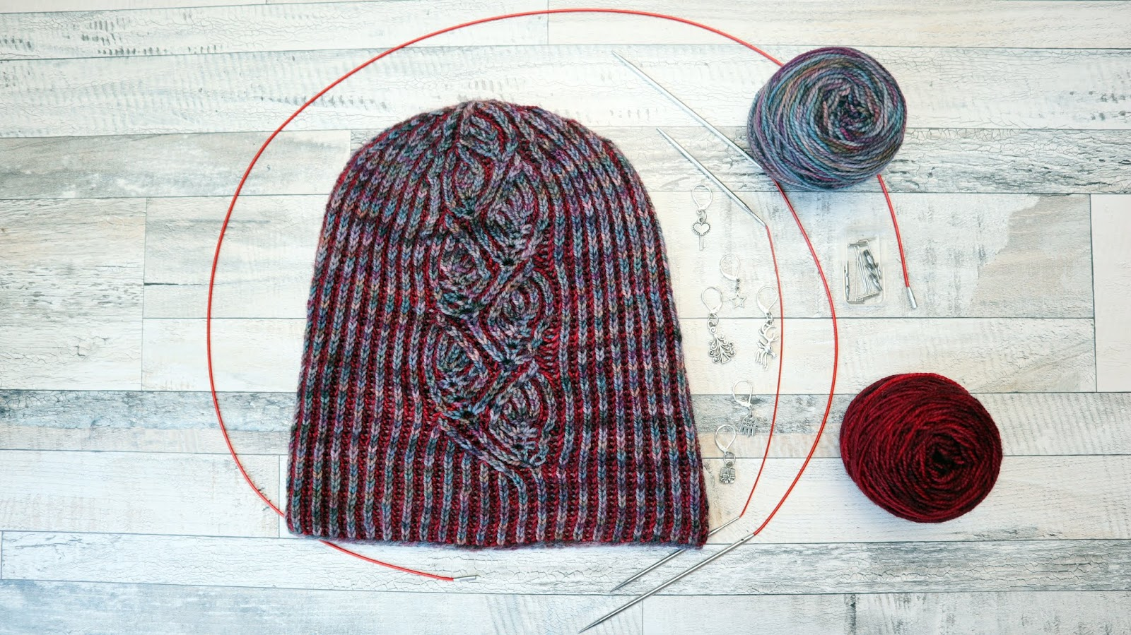 Foliage Hat - Brioche Knitting