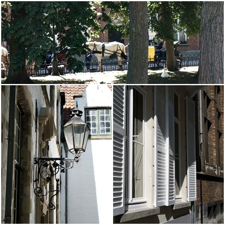 Pferdekutsche, Fensterläden und eine Straßenlaterne in Brügge { by it's me! }