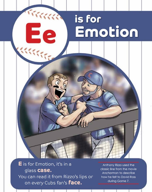 Delightful illustration in F Is For Finally An A To Z Story of The 2016 Cubs Postseason