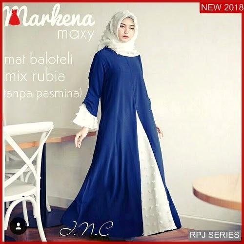 RPJ198D143 Model Dress Markena Cantik Maxy Wanita