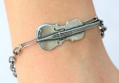 Steampunk Violin Bracelet