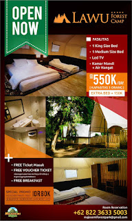 Tarif Menginap lawu forest camp